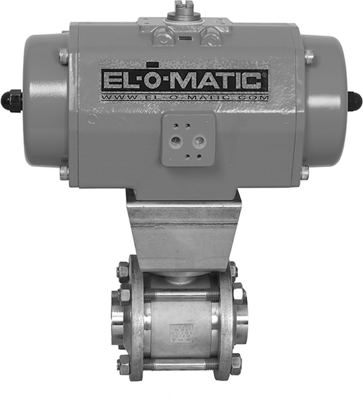 EL-O-Matic E and P-Series Rack and Pinion Pneumatic Valve Actuator