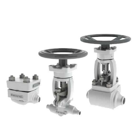 Sempell Nuclear Model Nico 4000 High Pressure Stop and Check Valves